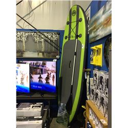 OUTDOOR TUFF 10' INFLATABLE PADDLE  BOARD COMES WITH PADDLE, PUMP,  ACCESSORY BAG &