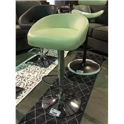 WHITE & CHROME GAS LIFT BAR STOOL