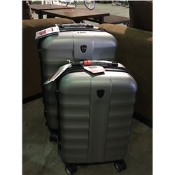 2 PIECE HEYS LUGGAGE SET - SILVER