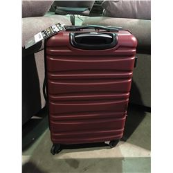 SWISS GEAR RED SINGLE SUITCASE
