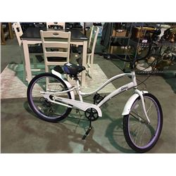 SIMS SEA BREEZE 7 SPEED LADIES BIKE - PURPLE & WHITE