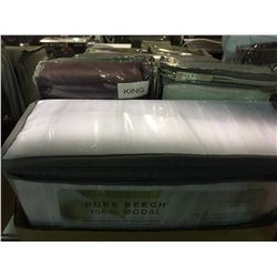 ONE BOX OF ASSORTED KING SIZED  SHEETS & BED SKIRTS