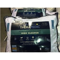 PAIR OF THERAPEDIC STANDARD/ QUEEN SIZE SIDE SLEEPER PILLOWS