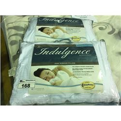 PAIR OF CARPENTER INDULGENCE  STANDARD/ QUEEN SIZED SIDE SLEEPER PILLOWS