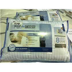 PAIR OF SLEEP FOR SUCCESS  STANDARD/ QUEEN SIZED SIDE SLEEPER PILLOWS