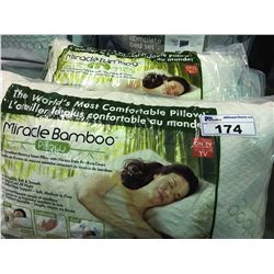 PAIR OF MIRACLE BAMBOO  QUEEN SIZED  PILLOWS