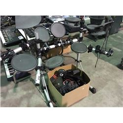 YAMAHA ELECTRONIC DRUM SET WITH BOX OF ACCESSORIES
