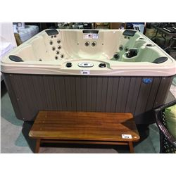 SANDBAR 90 X 90, 4 PILLOWS, WATERFALL CASCADE, 5BHP 2 SPD 60HZ, 5.0 BHP 1SPD, PURE SILK OZONATOR,