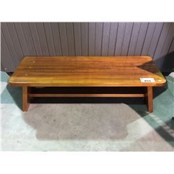 OUTDOOR SMALL WOODEN BENCH SEAT