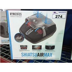 HOMEDICS SHIATSU AIR MAX  FOOT MASSAGER WITH HEAT