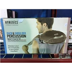 HOMEDICS BACK & SHOULDER PERCUSSION MASSAGER WITH HEAT