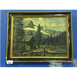"GEORGE SOUTHWELL FRAMED ORIGINAL OIL ON CANVAS PAINTING TITLED ""LAKE O'HARA/CATHEDRAL MOUNTAINS"" ("