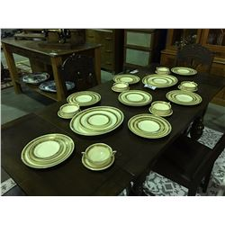 42 PIECES BURLEIGH WARE ENGLAND GOLD TRIMMED CHINA DINNERWARE SET