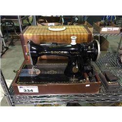 SINGER PORTABLE SEWING MACHINE WITH CARRYING CASE