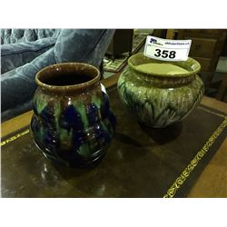 2  ART POTTERY VASES