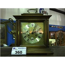 MADE IN GERMANY MAHOGANY CASED SOLAR  MANTEL CLOCK