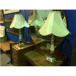 PAIR OF VINTAGE BEDROOM LAMPS