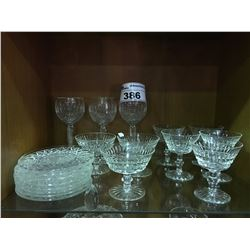 19 PCS OF ASSORTED WATERFORD CRYSTAL