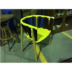 RETRO YELLOW MID CENTURY INSPIRED SIDE CHAIR