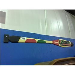WEST COAST FIRST NATIONS CARVED PAINTED PADDLE