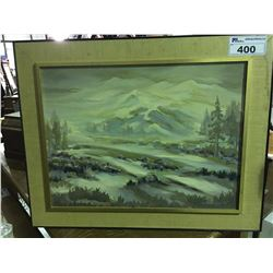 """FRAMED ORIGINAL OIL ON BOARD PAINTING SIGNED BY ARTIST BOTTOM RIGHT CORNER 71 MEASURES 29 1/2"""" X"""