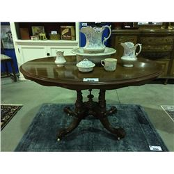 VICTORIAN MAHOGANY LOO TABLE ( TILTING MECHANISM MISSING HAS BEEN REPLACED  WITH 4 BOLTS TO  FLAT