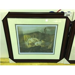 """FRAMED LIMITED EDITION PRINT BY GROUP OF SEVEN ARTIST AJ CASSON TITLED """"AUTUMN GEORGIAN BAY"""""""