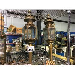 """PAIR OF CIRCA 1900'S GAS PORCH LIGHT """"LIME HOUSE LAMP COMPANY"""""""