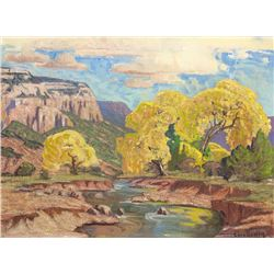 Carl Redin | New Mexico Landscape with Arroyo