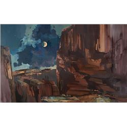 Laurence Philip Sisson | Dark Purple Canyon Moonlight