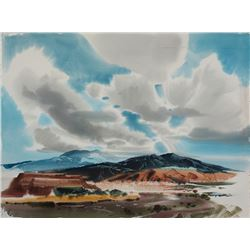 Laurence Philip Sisson | New Mexico Desert Landscape with Clouds