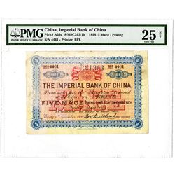 Imperial Bank of China, 1898 ñPekingî Branch Issue.