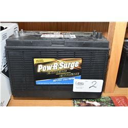 Brand New Pow-R-Surge Extreme Perfomance deep cycle 800 CA Battery #DC31DT- AUCTION HOUSE WILL NOT P