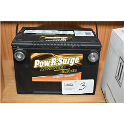 Brand new Pow-R-Surge advanc ed Performance Automotive battery 985CA #778MF- AUCTION HOUSE WILL NOT