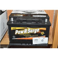 Brand new Pow-R-Surge Premium Performance 850 CA Battery, series 7000 #648MF- AUCTION HOUSE WILL NOT
