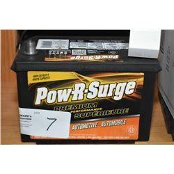 Brand new Pow-R-Surge Premium Perfomance, series 7000, 725CA battery #642/58R- AUCTION HOUSE WILL NO