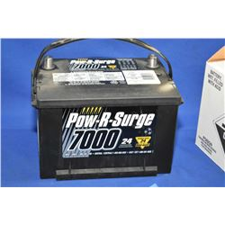 Brand new Pow-R-Surge series 7000, 725 CA Battery #658MF- AUCTION HOUSE WILL NOT PROVIDE SHIPPING FO