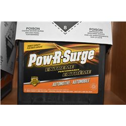 Brand new Pow-R-Surge Extreme Perfomance, series 8400, 820CA Battery #775MF- AUCTION HOUSE WILL NOT