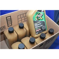 Nine 1ltr. jugs of Quakerstate Ful Synthetic W-30 motor oil- AUCTION HOUSE WILL NOT PROVIDE SHIPPING