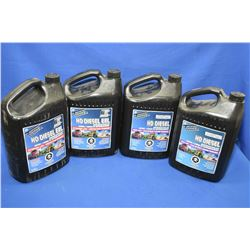 Four 3.78 ltr. jugs of brand name Turbo Power HD Diesel EXL antii-freeze/coolant- AUCTION HOUSE WILL