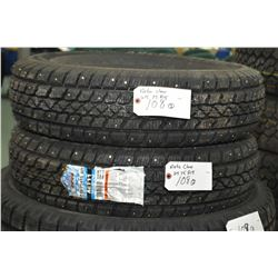 Pair of brand new studded Artic Claw winter Txi M+S tires #215/75R15- AUCTION HOUSE WILL NOT PROVIDE