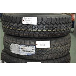 Pair of brand new Toyo M-55 tires, LT235/80R17 1200, # 312060- AUCTION HOUSE WILL NOT PROVIDE SHIPPI