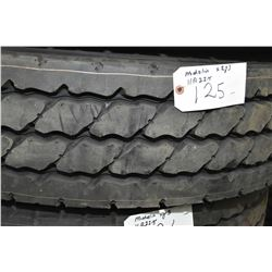 Brand new Michelin XZY-3 tire, 11R22.5- AUCTION HOUSE WILL NOT PROVIDE SHIPPING FOR THIS ITEM. BUYER