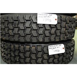Pair of Continental HDR Re-cap tires, 225/70R 19.5- AUCTION HOUSE WILL NOT PROVIDE SHIPPING FOR THIS