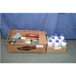 Selection of R.V supplies including seven bottles of Aqua-KEM holding tank deodrant, two package of