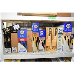 Large selection of Napa air filters including #9192, #2612, #2329, #2295, #22088, #2101, #2088, #206