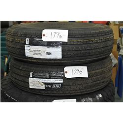 Two brand new Rubber Master RM 76 tires, #ST225/75R15- AUCTION HOUSE WILL NOT PROVIDE SHIPPING FOR T