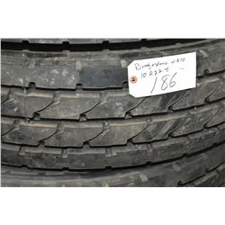 Bridgestone Re-cap W970 tire, #10R 22.5- AUCTION HOUSE WILL NOT PROVIDE SHIPPING FOR THIS ITEM. BUYE
