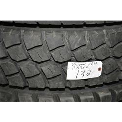 Brand new UniRoyal HD60 tire, #11R 24.5- AUCTION HOUSE WILL NOT PROVIDE SHIPPING FOR THIS ITEM. BUYE
