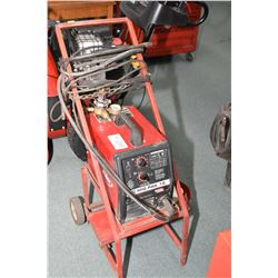 Lincoln Mig Pak 10 welder on rolling cart- AUCTION HOUSE WILL NOT PROVIDE SHIPPING FOR THIS ITEM. BU